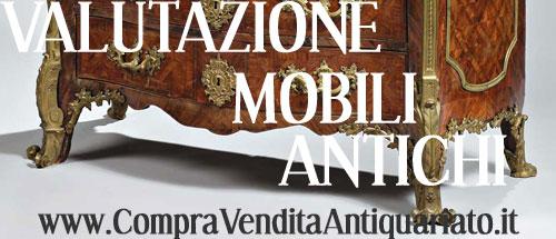 valutazione mobili antichi antiquariato compravendita
